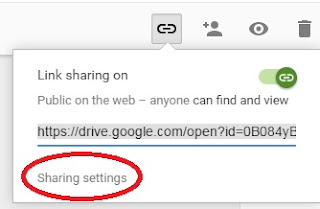sharing settings google drive