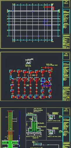 AutoCAD view for the drawings - structural drawings
