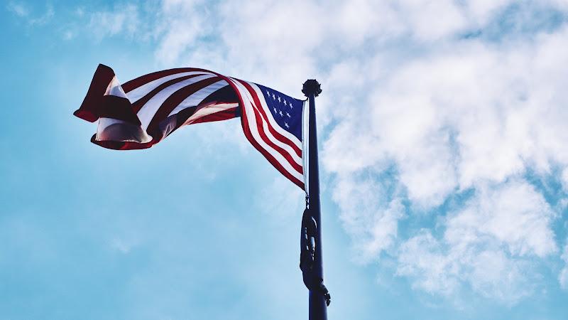American Flag in the Sky HD