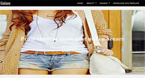 Galaxo Blogger Template