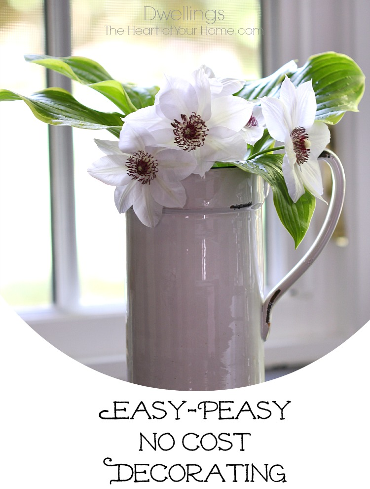Easy Peasy And Fun: Easy-Peasy No Cost Centerpiece