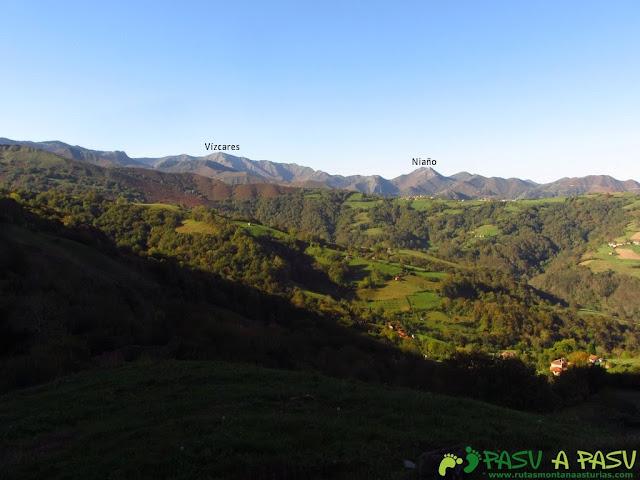 Vista del Vízcares y Niaño desde el Bosque de Cea