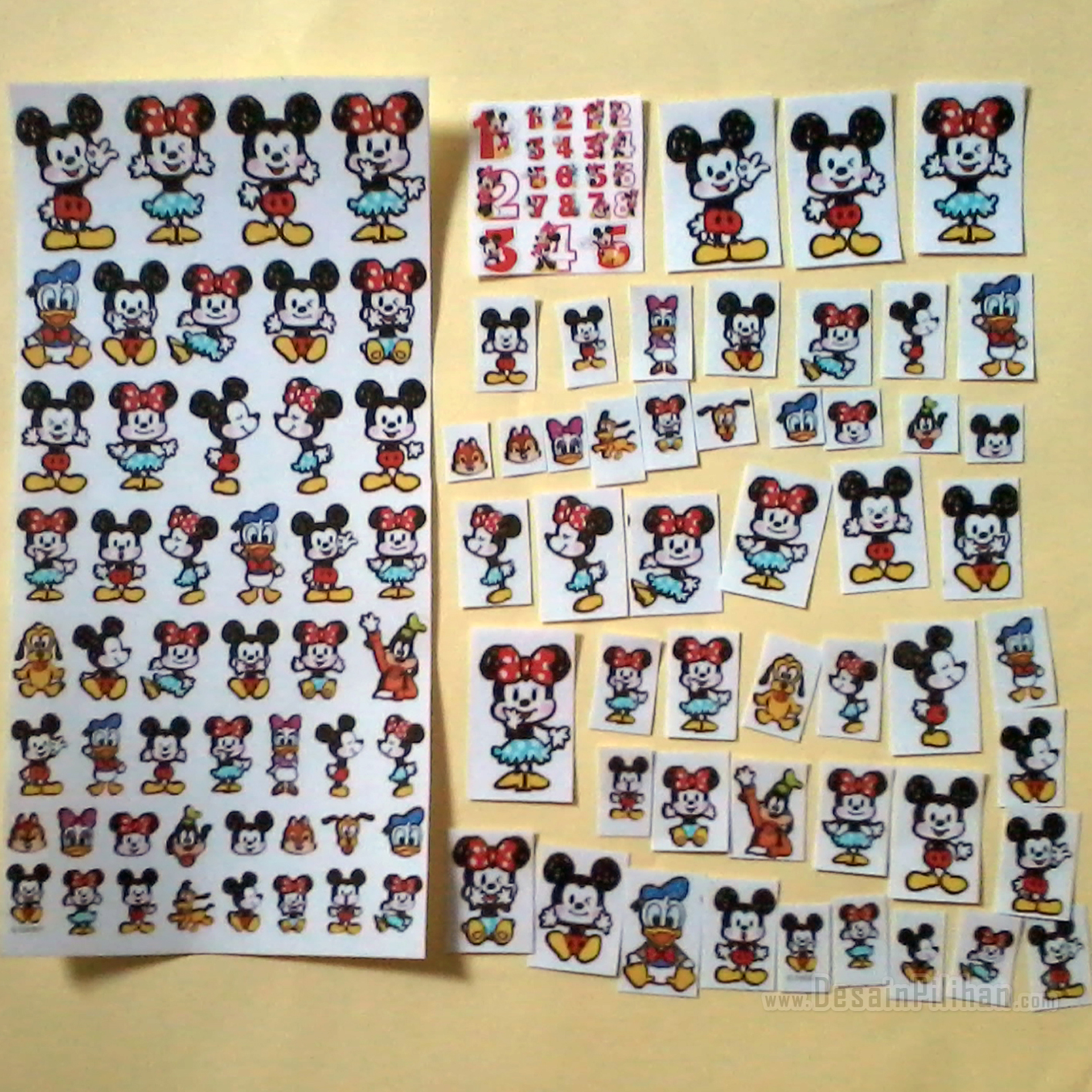 CUTTING STICKER TRANSPARAN CUSTOM, CUTTING STICKER MICKEY MINNIE MOUSE