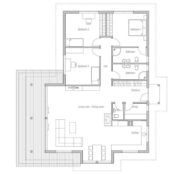 Modern Home Design October 2012: Contemporary House Plans: Modern Contemporary House Plan CH146