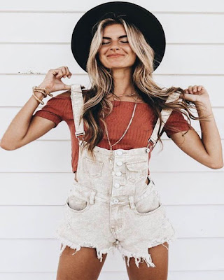 outfit with overalls for summer for teen