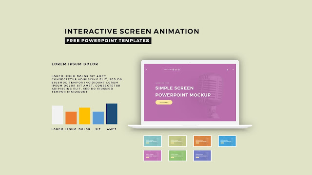 Interactive Screen Animation PowerPoint Template Slide 5