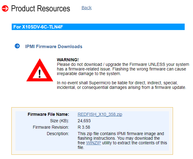 Kaperschip: Supermicro X10SDV IPMI firmware update, iKVM