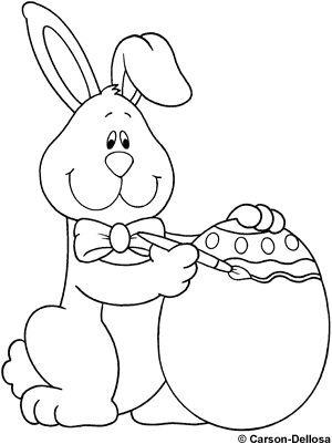 Riscos de Pintura: Riscos de coelhos de páscoa