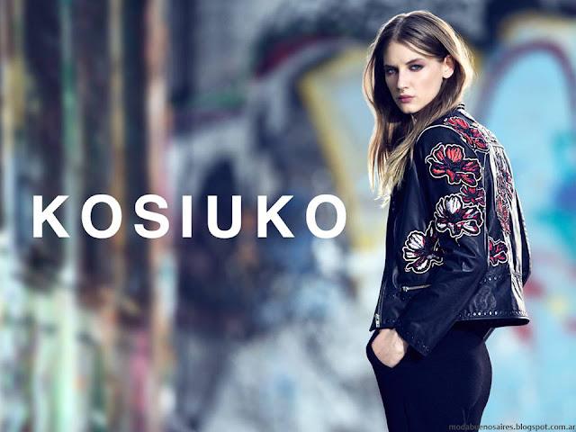 Kosiuko otoño invierno 2016 ropa de mujer. Moda otoño invierno 2016 Kosiuko.