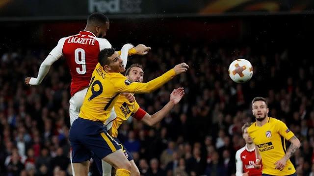 Liga Europa: Arsenal Diimbangi 10 Pemain Atletico 1-1