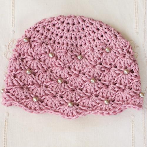 Vintage Pearl Baby Hat - Free Pattern
