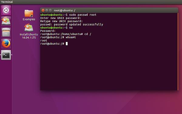 Как да бъдем root в Ubuntu Live CD