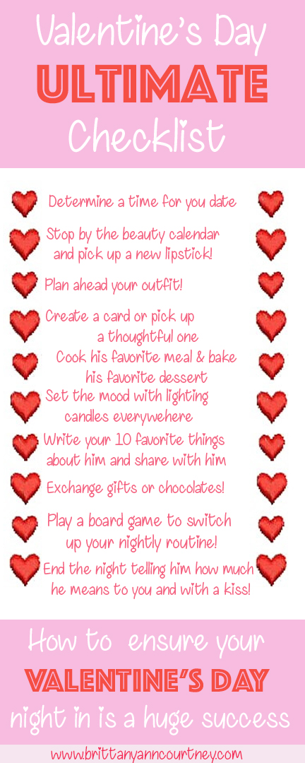 Valentine S Day Ultimate Check List For A Night In Brittany Ann