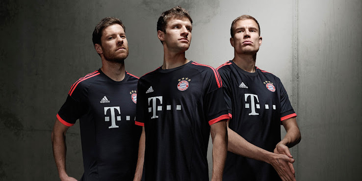 2ec1cbed The FC Bayern Munich 2015-16 Home Jersey features two red tones, after  Adidas introduced a Red / Blue striped Bayern München Jersey in Summer 2014.