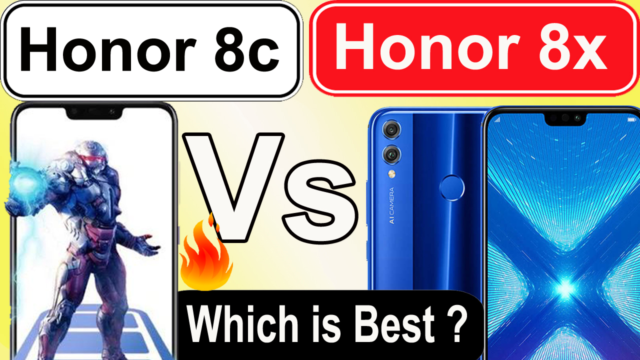 Compare Honor 8C vs Honor 8X Specs, Camera - Which is Best ?