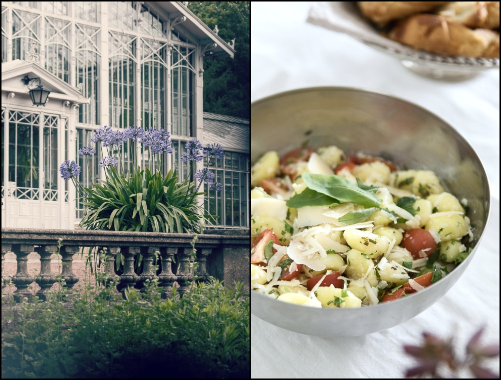 Sunnuntai, brunssi, valokuvaus, valokuvaaja, Frida Steiner, Visualaddict, ruoka, keittiö, kokkaus, brunssi, sunnuntaibrunssi, italialainen keittiö, mozzarella, talvipuutarha, puutarha, helsinki, töölönlahti, istutus, gnoggi