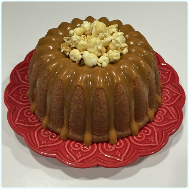 Salted Caramel and Peanut Bundt Cake