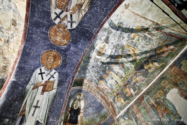 Detalle frescos de la Iglesia de Santa Sofía,, Ohrid - Macedonia por El Guisante Verde Project