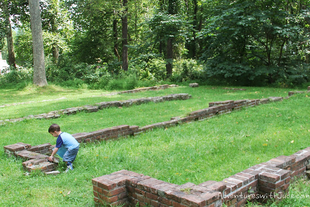 brick foundation ruins