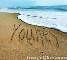 كتابة اسمك على الرمل