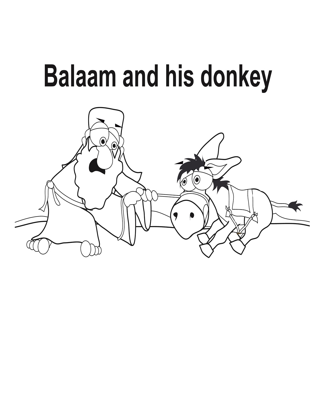 Free coloring pages of balaam