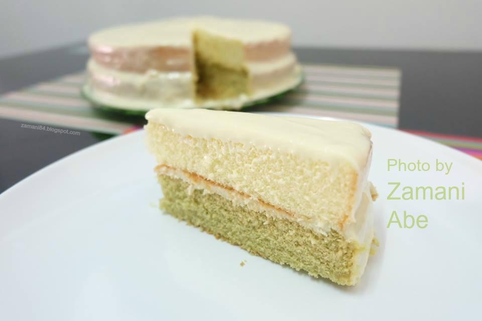zamani  resepi kek keju  teh hijau  mudah Resepi Kek Span Setengah Kilo Enak dan Mudah