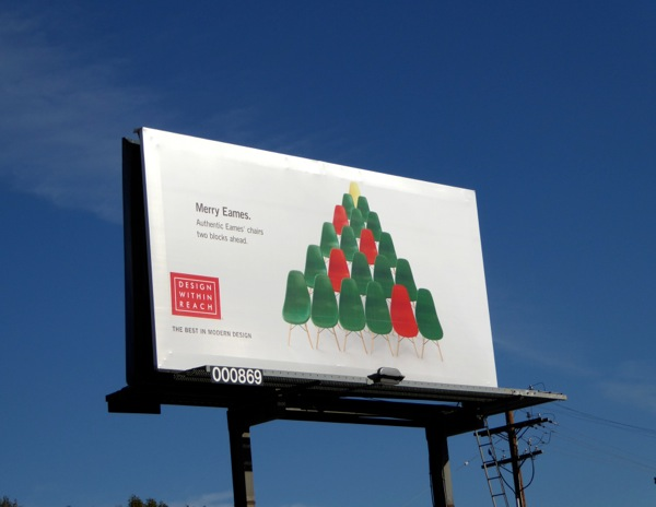 Merry Eames Design Within Reach festive billboard