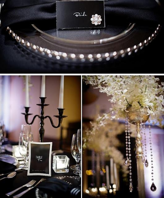 fiestas , eventos , elegantes , decoración , blanco , negro , bodas