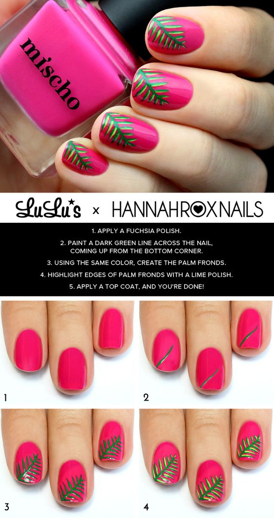Tropical Nail Tutorial