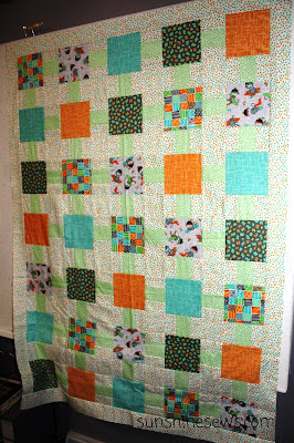 Backyard Fun Quilt Top