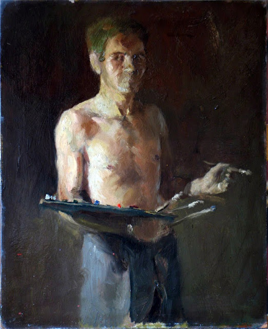 Alberto Carroggio, Self Portrait, Portraits of Painters, Fine arts