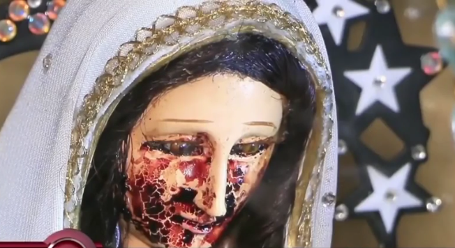 STATUE OF VIRGIN MARY 'CRIES BLOOD MYSTERIOUSLY – WHAT HAPPENED AFTER THAT WILL SHOCK YOU (PHOTOS)