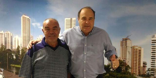 Viana recebe visita de líder comunitário
