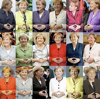 Bundeskanzler lustige Bilder Kleidung und Handzeichen