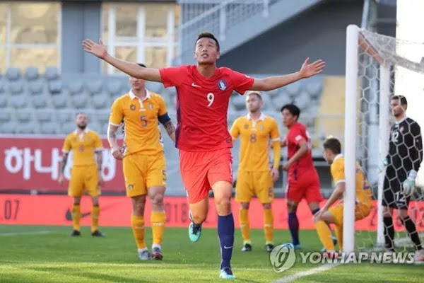 South Korea beat Moldova 1-0 in friendly