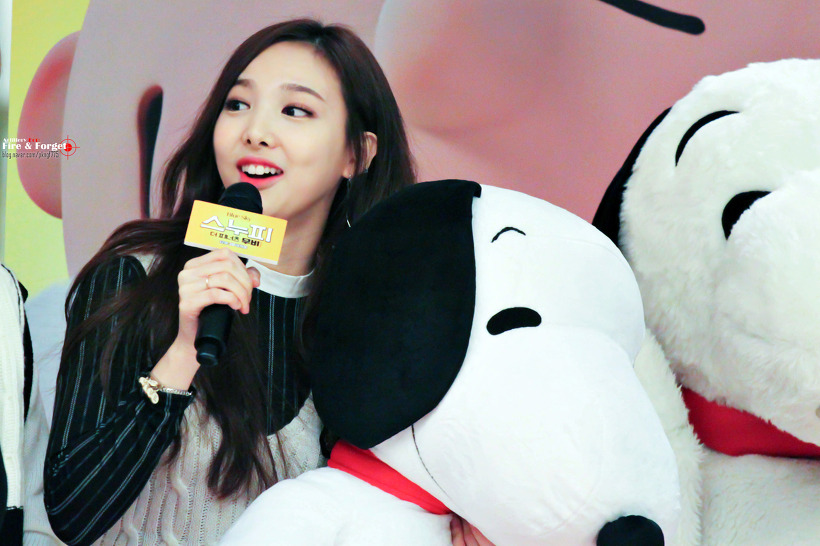 TWICEs Im - Nayeon in Black & white outfit at Twices 7th