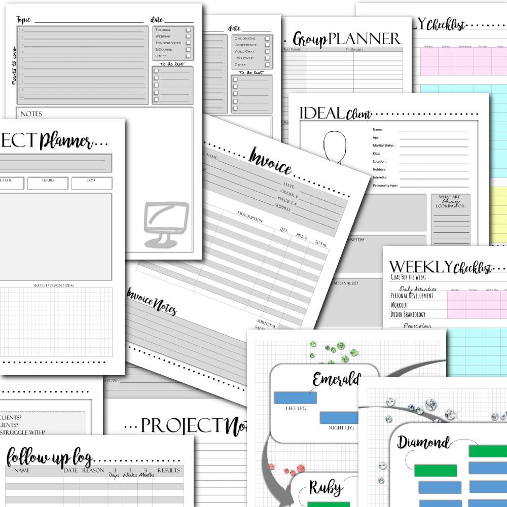 business planner printables