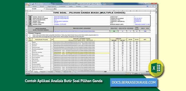 Contoh Aplikasi Analisis Butir Soal Pilihan Ganda