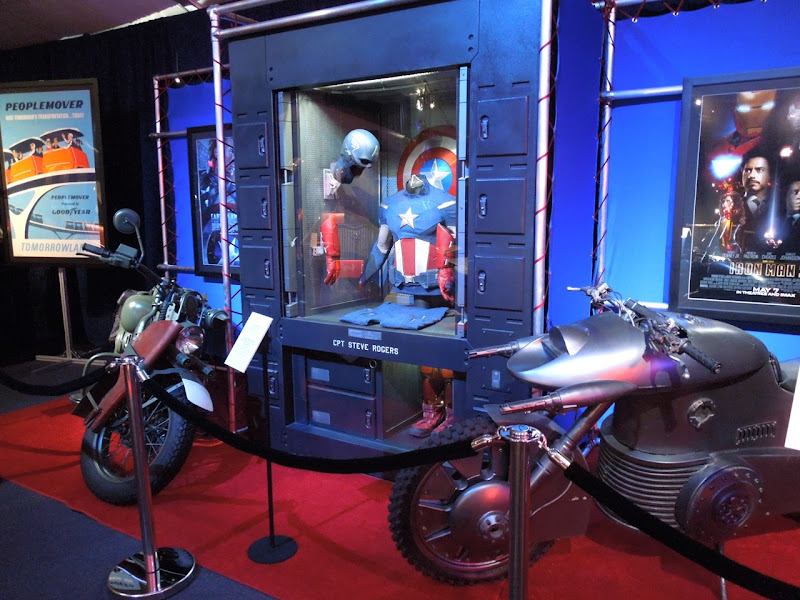 Captain America costume motorcycle movie display