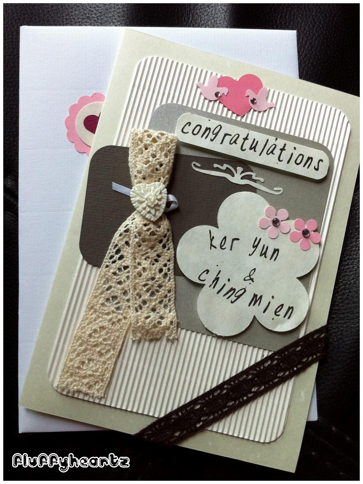 Fluffyheartz ♥: Personalized Wedding Congratulations Card