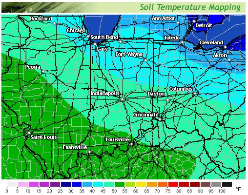 soil temp map