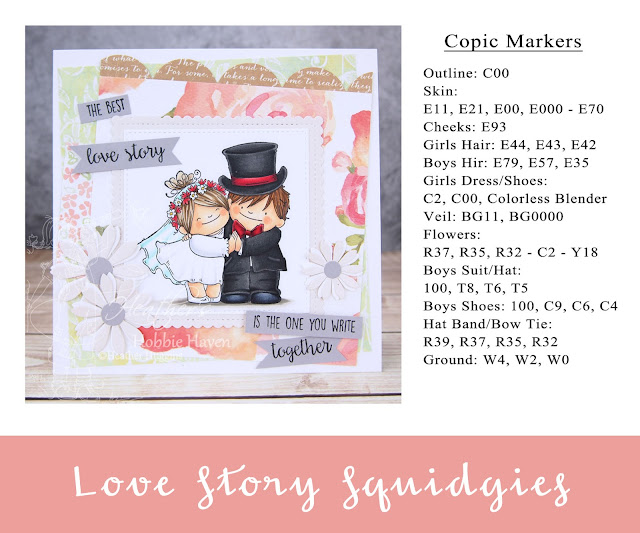 Heather's Hobbie Haven - Love Story Squidgies Card Kit