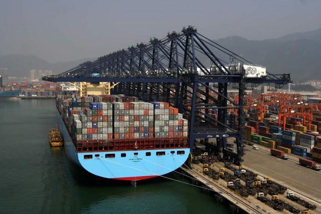 Resultado de imagem para rota de navios gigantes contêineres