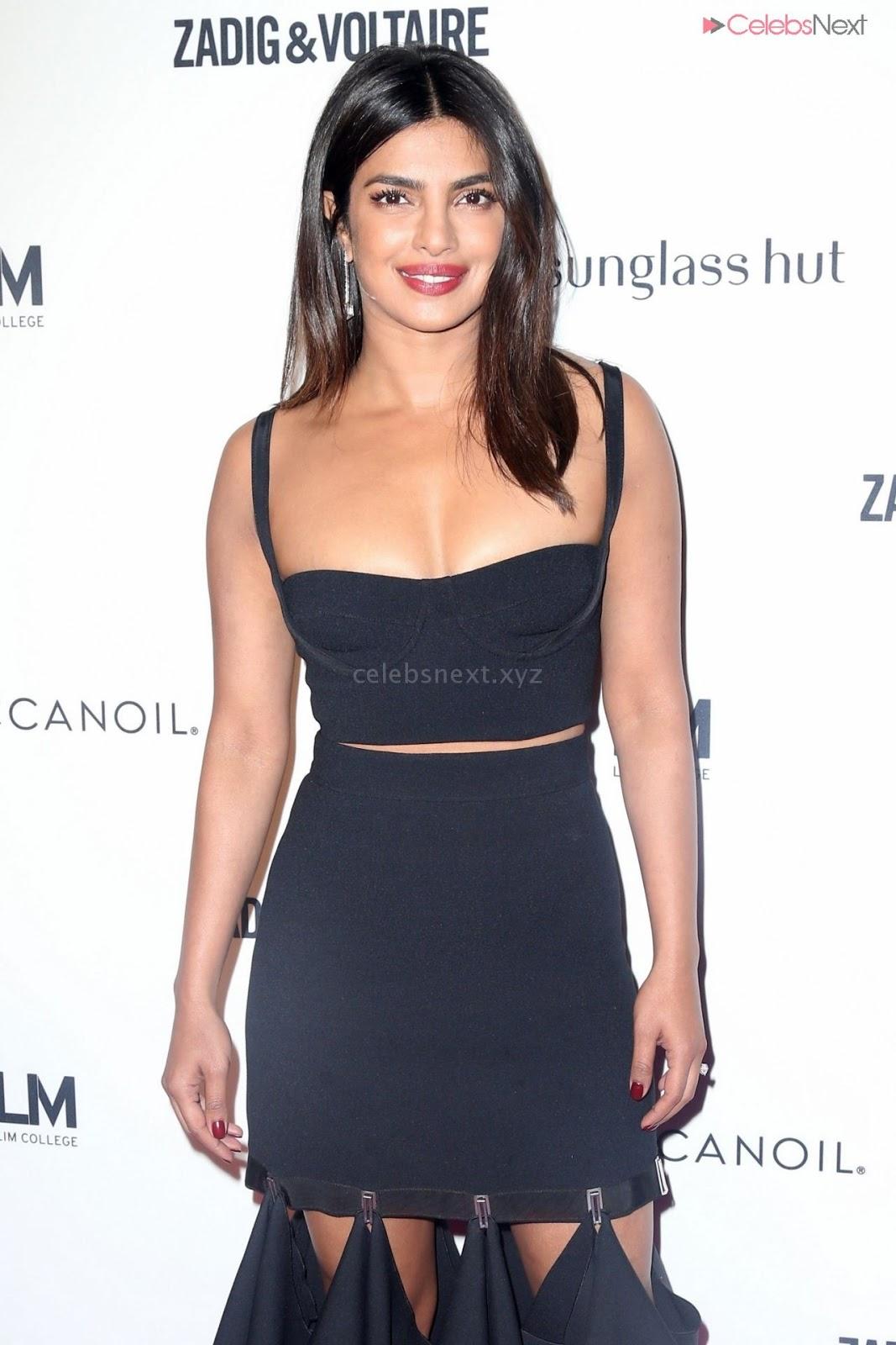Priyanka Choppra in lovely deep Neck Sleeveless Dress in NYC - celebsNext.xyz Exclusive