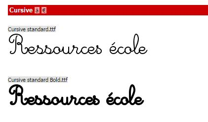 police cursive standard