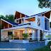 2233 sq-ft 3 bedroom sharp sloped roof house