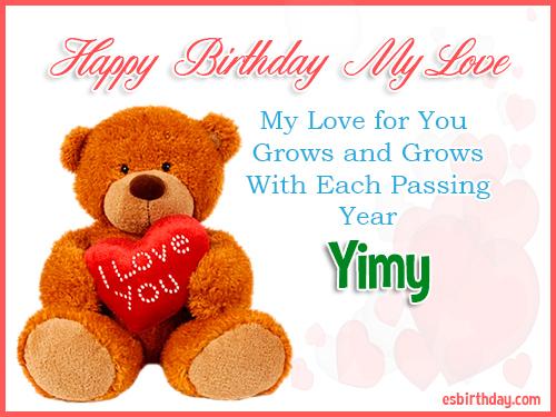 Yimy Happy Birthday My Love