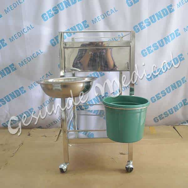 agen trolley stainless steel 2 laci