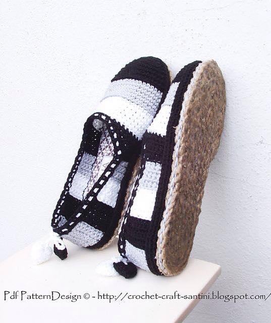 buty szydelkowe