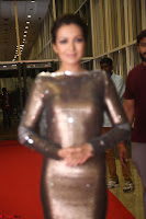 Actress Catherine Tresa in Golden Skin Tight Backless Gown at Gautam Nanda music launchi ~ Exclusive Celebrities Galleries 091.JPG